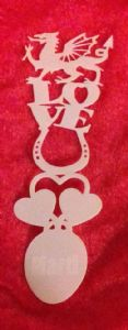 2 x Welsh love spoon design bookmark with Welsh dragon   Mylar 350 mcg